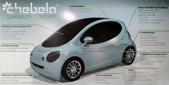 Bluetooth-based communication system between a prototype electric car and an Android device